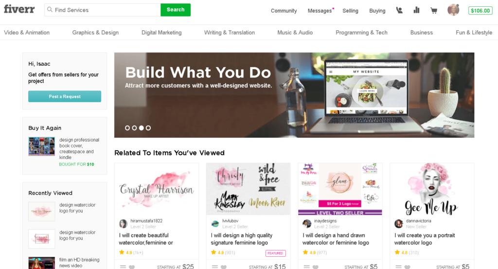 Plataforma Freelance: Fiverr