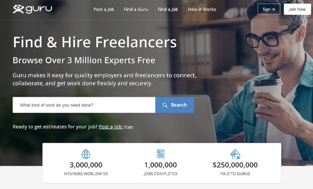 Guru.com: Plataforma Freelance